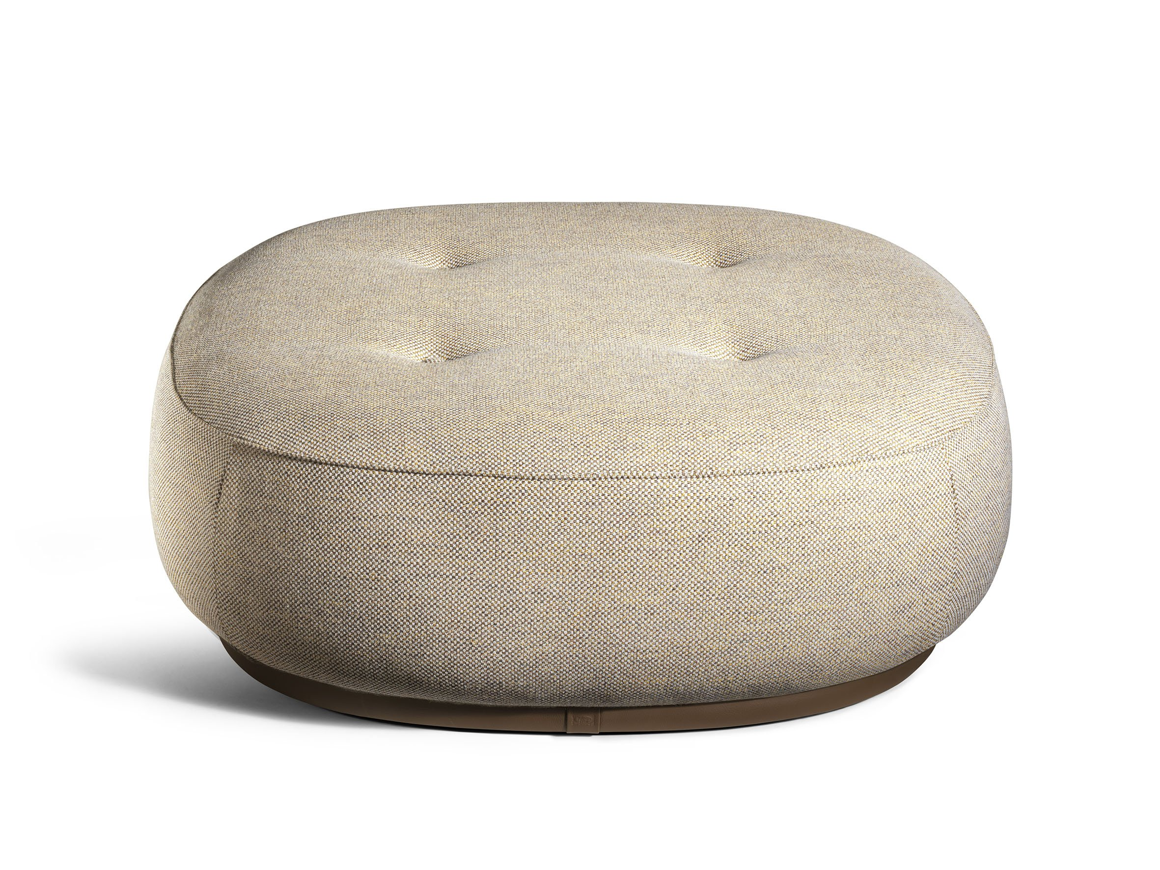Lepli fabric pouf the collection sofa and armchairs collection by poltrona frau design kensaku - Design pouf ...