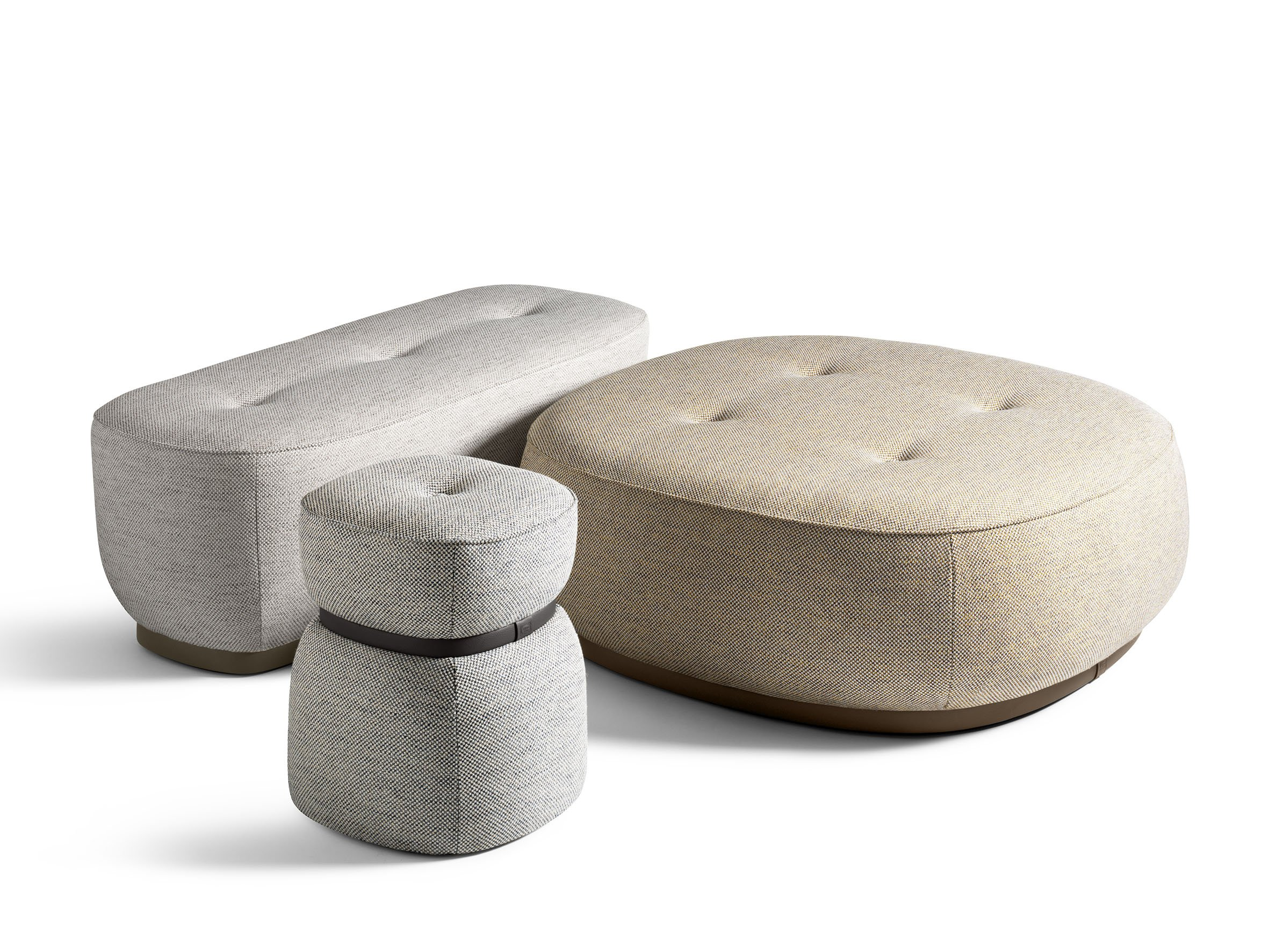 LEPLI Fabric Pouf THE COLLECTION Sofa And Armchairs