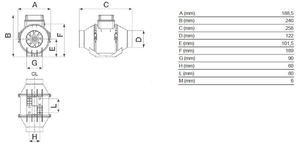 Vortice aspiratore centrifugo assiale 100 installazione for Caldaie bricoman