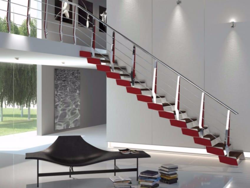 Escalera abierta autoportante recta de haya LOFT Colección Rintal ...