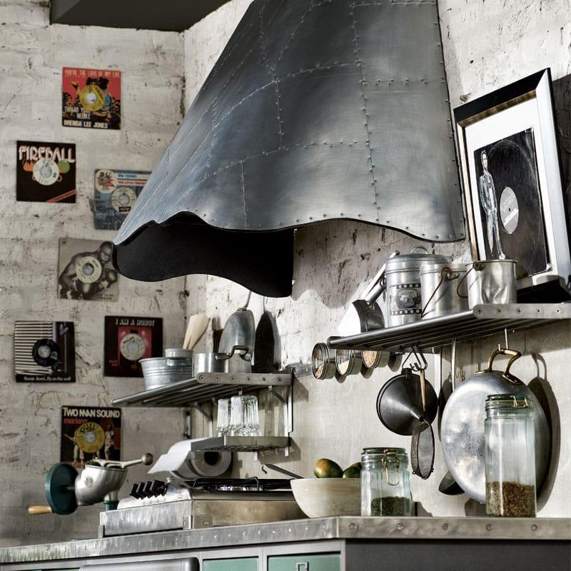 Cucina componibile in acciaio inox loft composizione 02 - Cucine marchi group ...