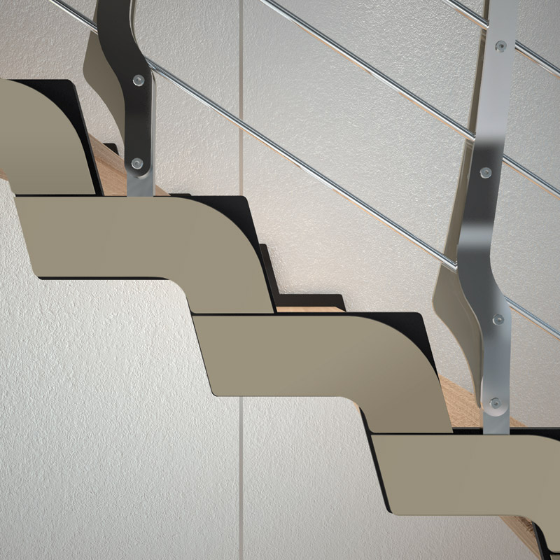 l shaped steps u shaped self supporting beech open staircase loft u shaped open