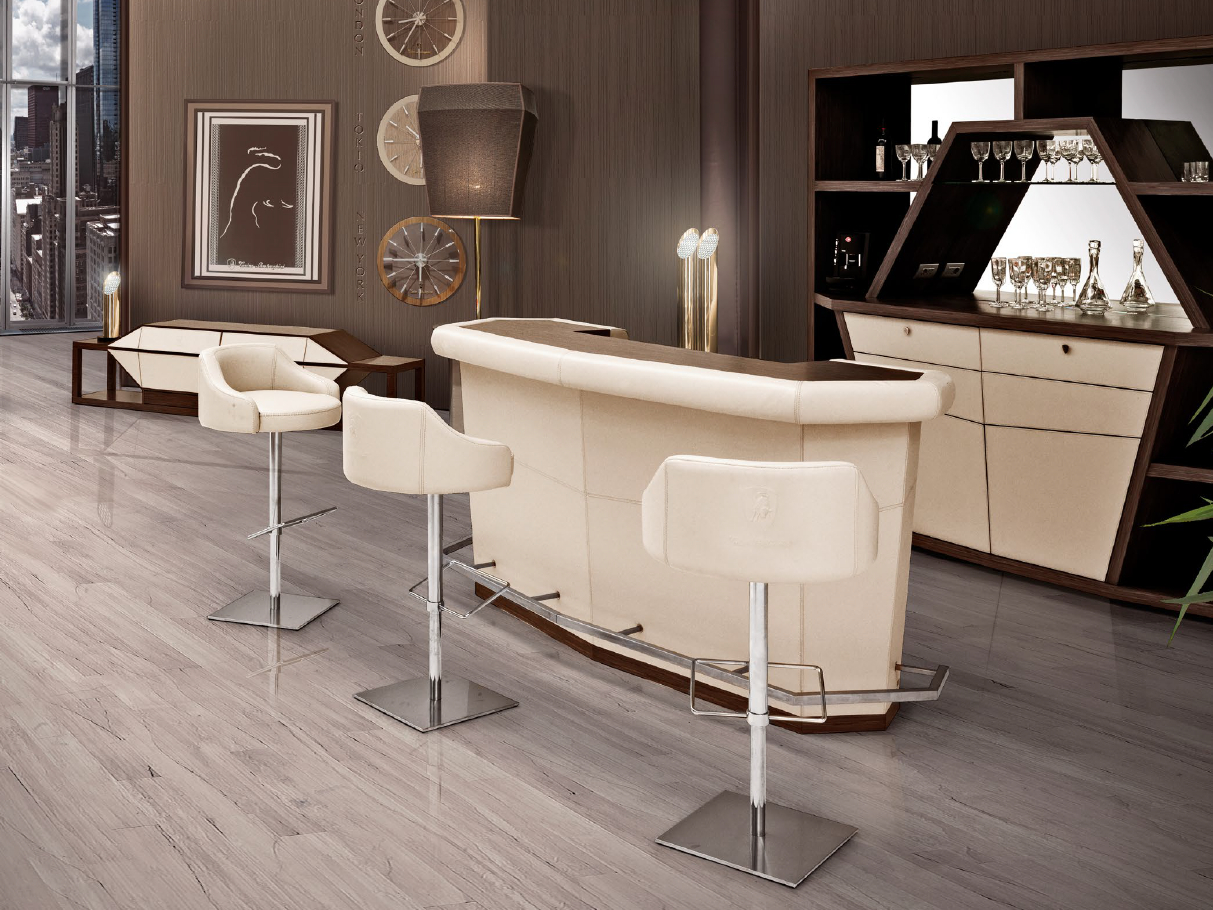 Long beach bar counter long beach collection by tonino for Bancone bar casa