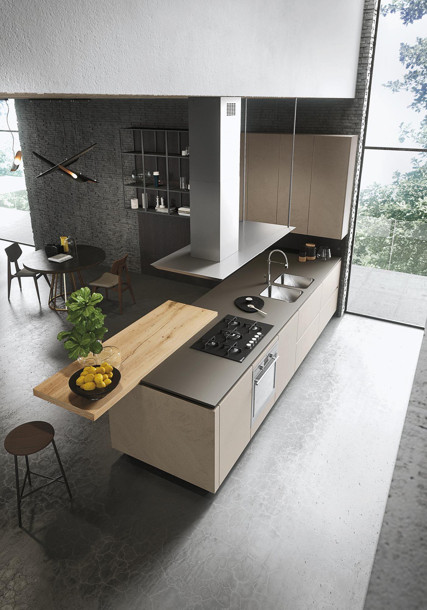Look cucina in legno collezione sistema by snaidero design michele marcon - Cucine a penisola ...