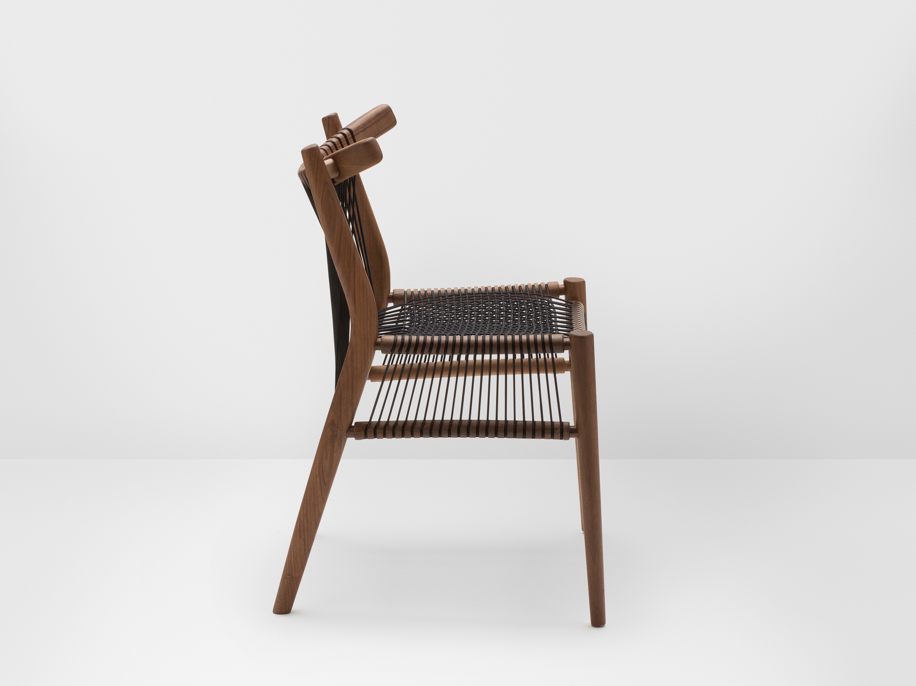 Loom walnut chair loom collection by h furniture design hierve for H furniture collection loom