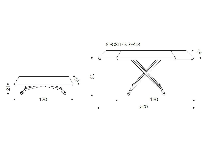 Height Of A Coffee Table magicozzio italia design yoshino toshiyuki