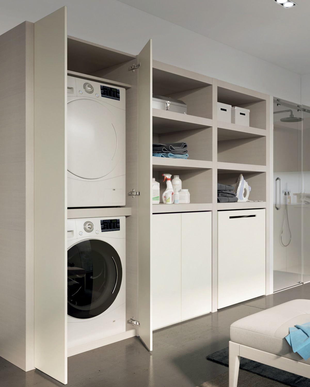 Mobile lavanderia componibile con lavatoio MAKE WASH 01 Collezione ...