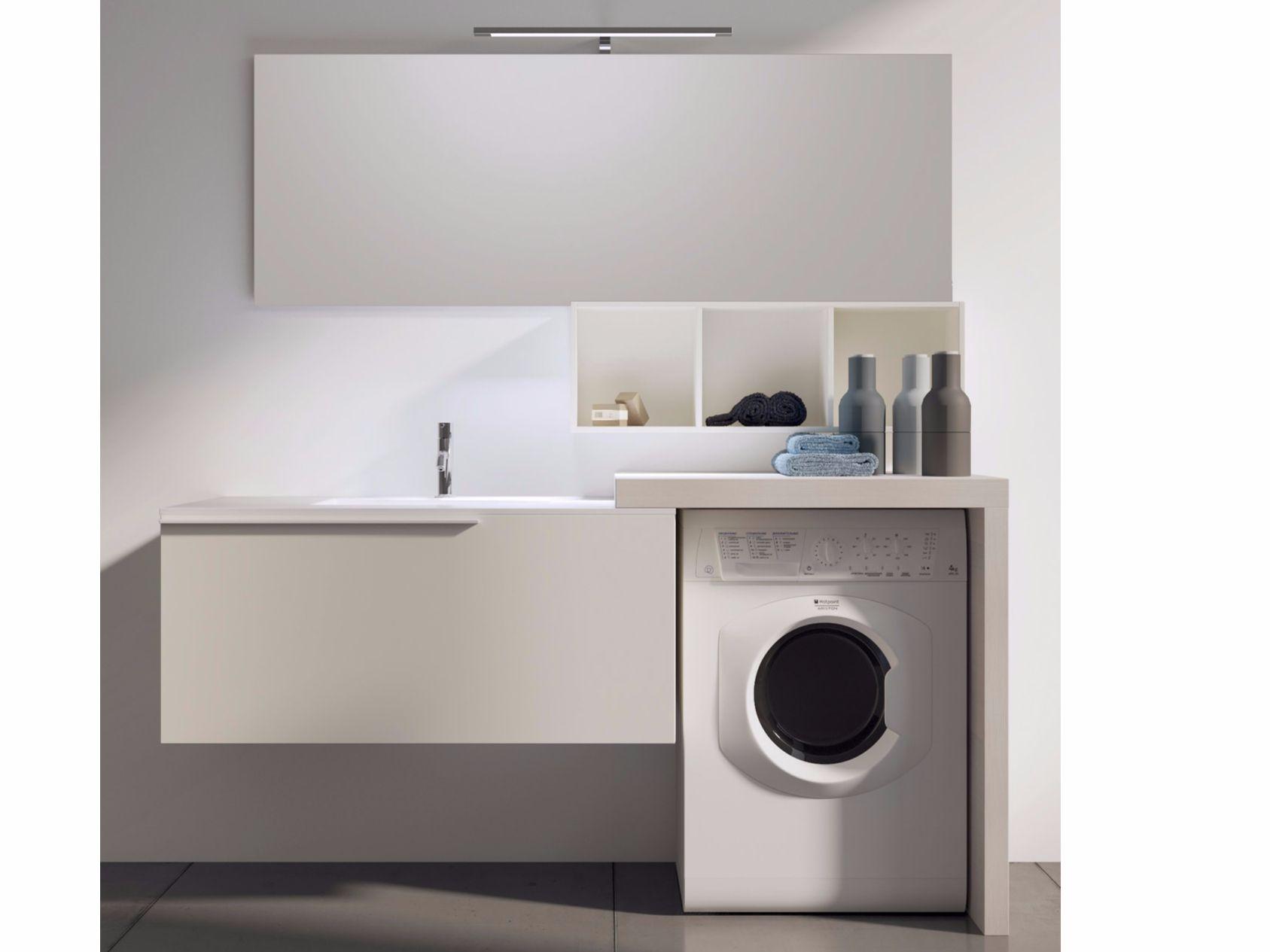 Mobile lavanderia componibile con specchio MAKE WASH 04 Collezione ...