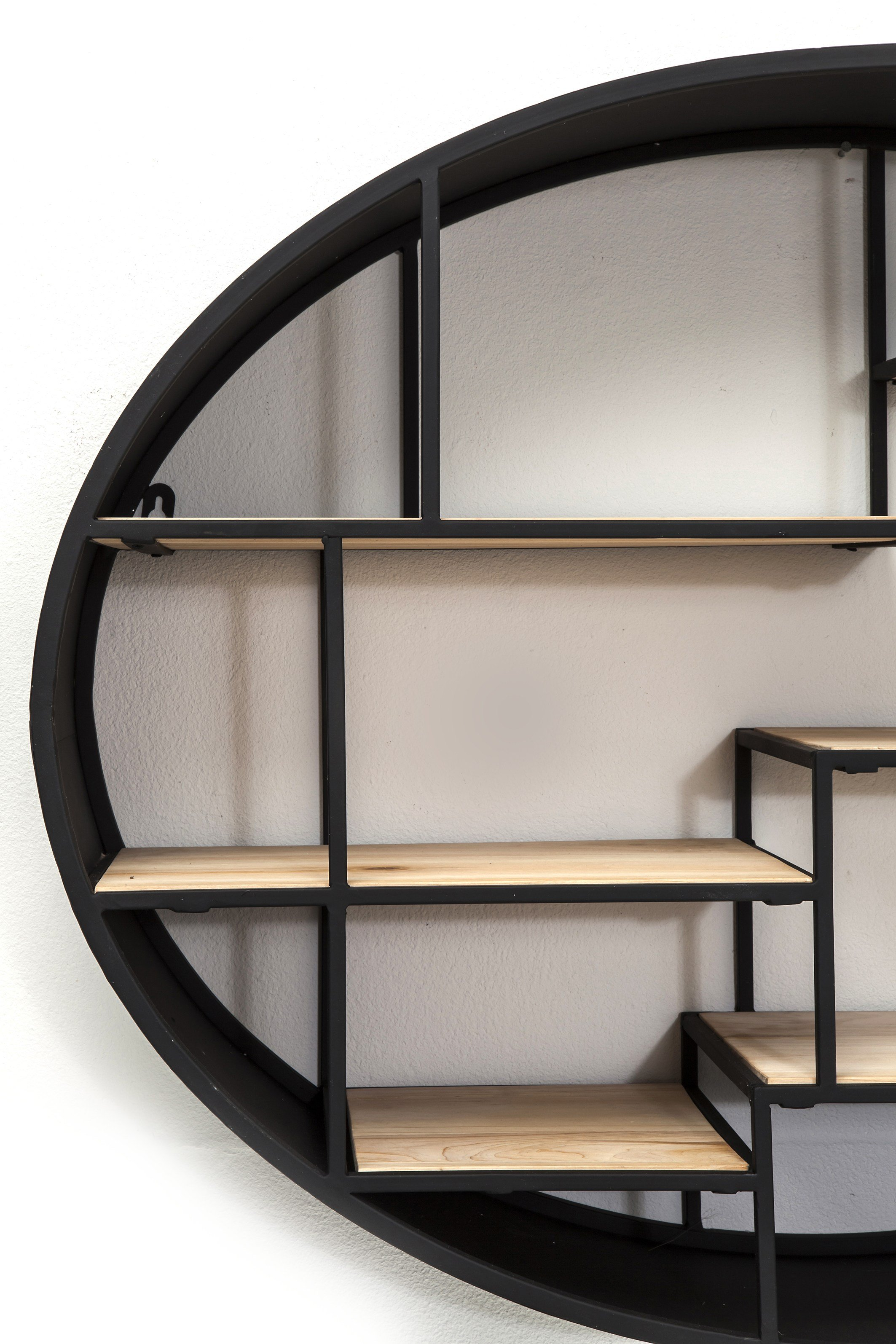 Wall Mounted Iron Bookcase Manege Round By Kare Design