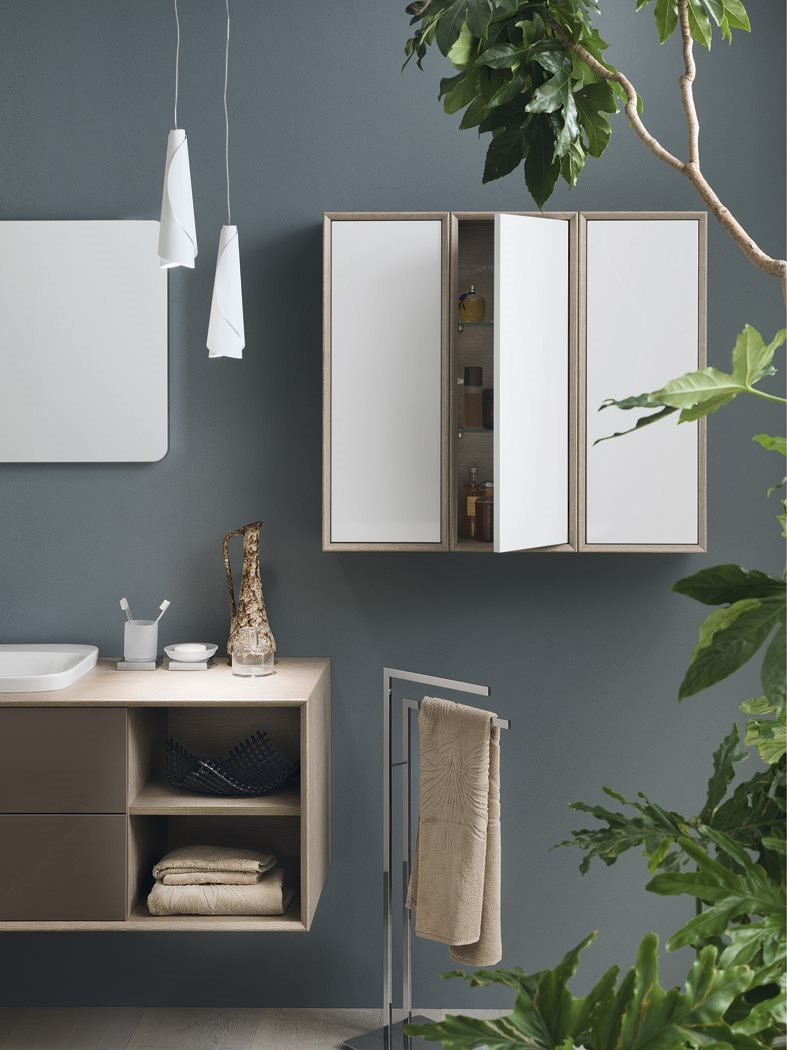laminate bathroom cabinet vanity unit maq composition 4 inda