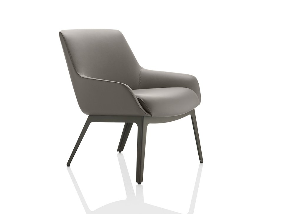 Marnie leather easy chair marnie collection by boss design for Easy chair designs