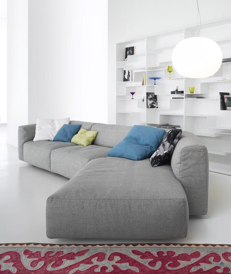 Divano angolare componibile sfoderabile in tessuto mate 2012 by mdf italia design robin rizzini - Divano componibile angolare ...
