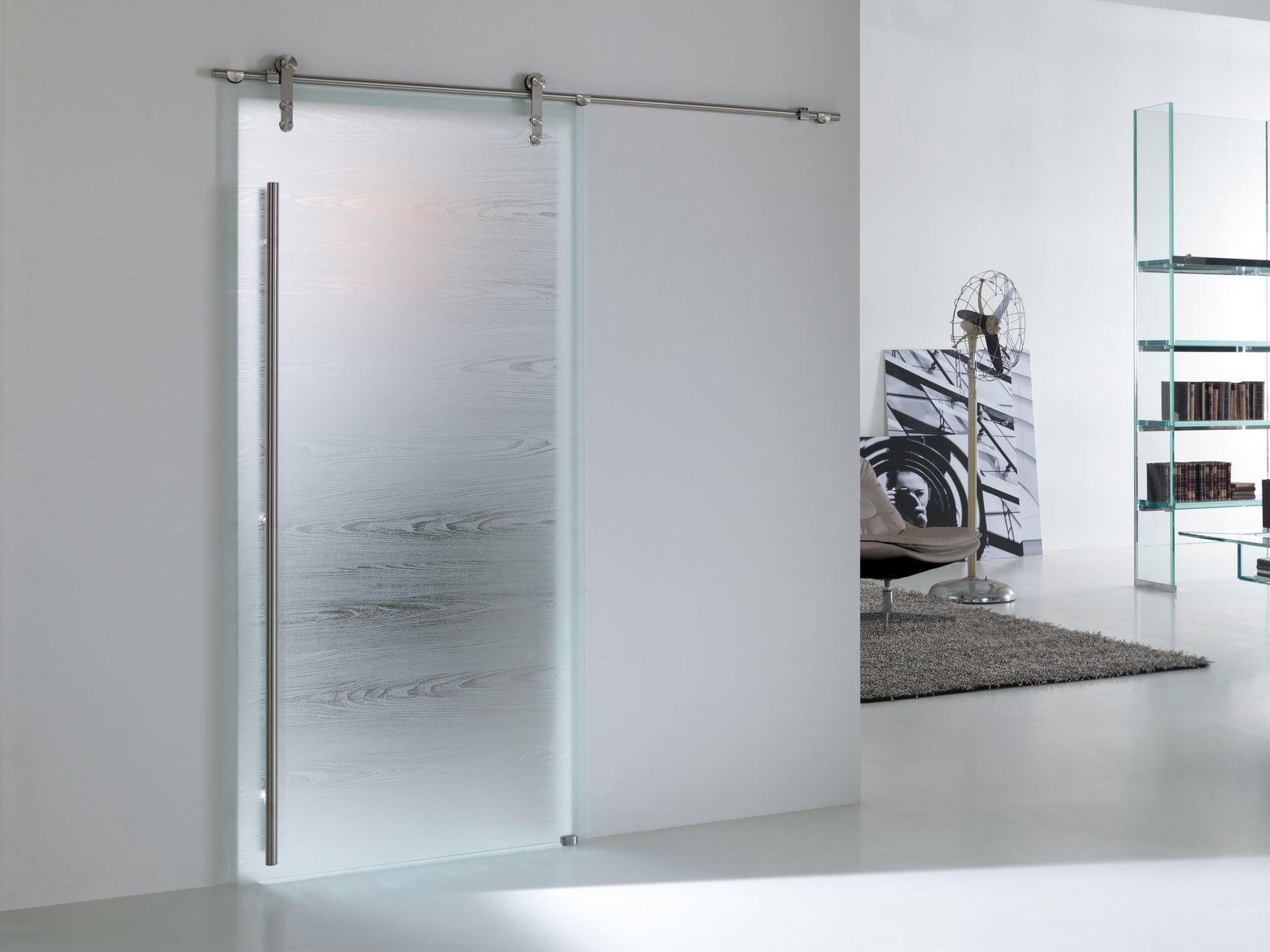 Porta scorrevole in vetro materik steel collezione materik - Porta in vetro scorrevole ...