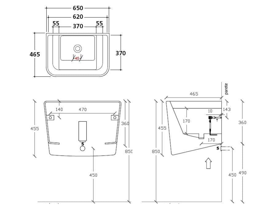 dimensions meg11 utility sink - Slop Sink
