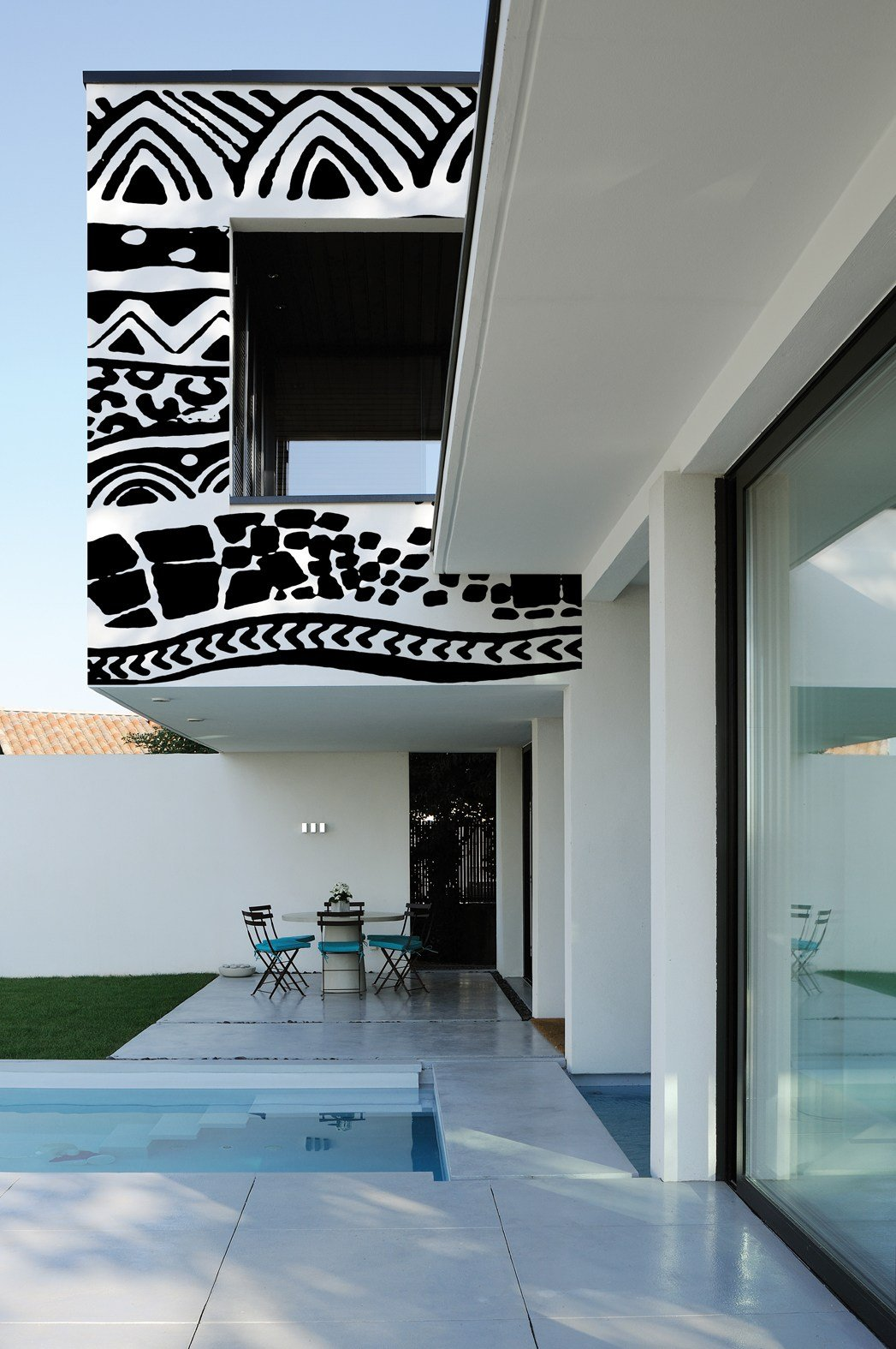 papier peint motifs pour ext rieur mehndi by wall dec design giopagani. Black Bedroom Furniture Sets. Home Design Ideas