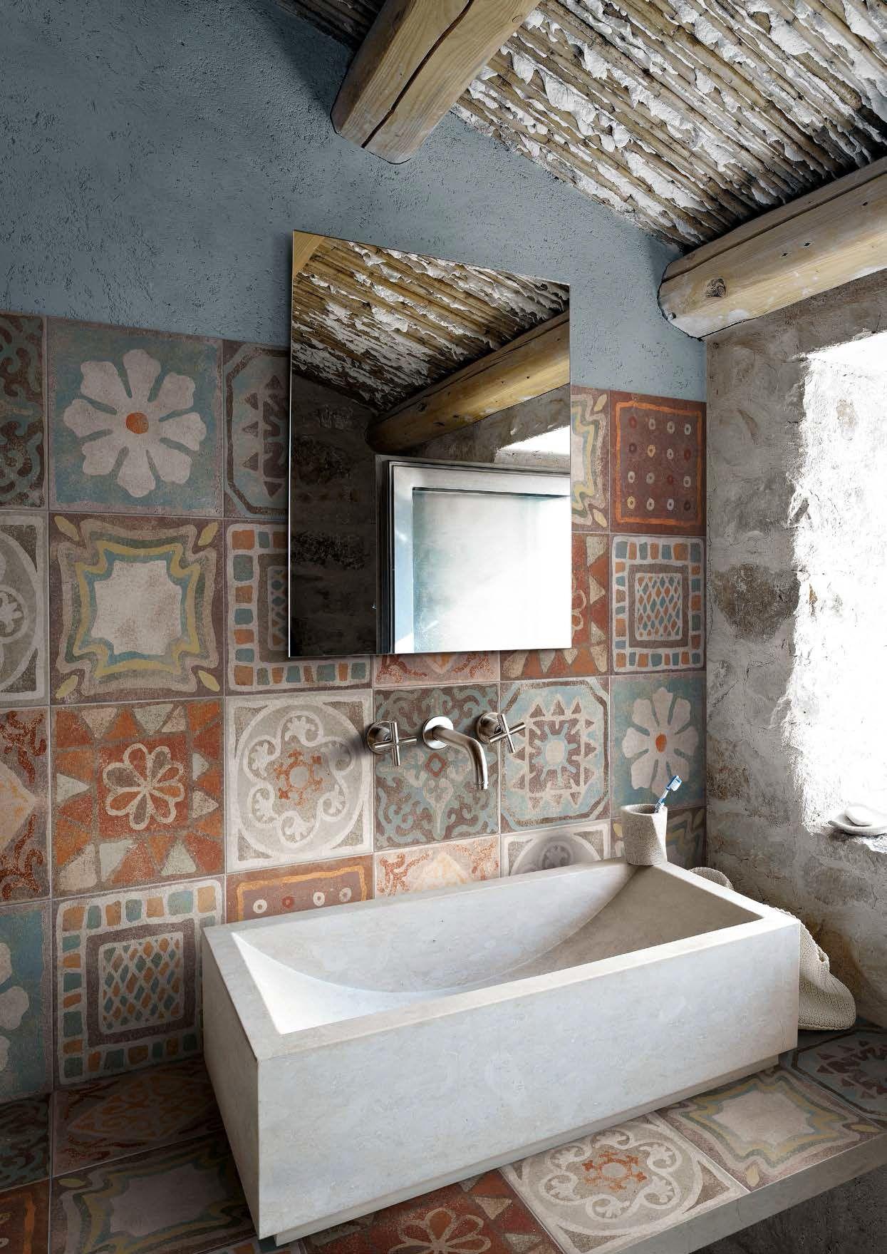 Rev tement de sol mur en gr s c rame memory mood decors collection memory mood by panaria - Revetement de mur ...