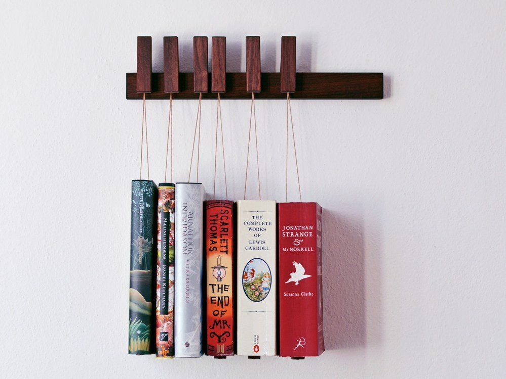 - MINI BOOK RACK Walnut Bookcase By AGUSTAV