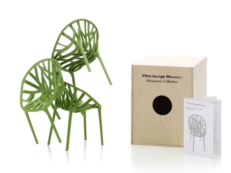 Soprammobile miniatures vegetal green set of 3 for Mobili bauhaus repliche