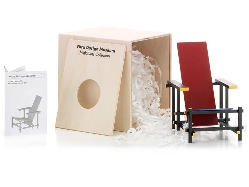 Soprammobile miniatures rood blauwe stoel collezione for Mobili bauhaus repliche