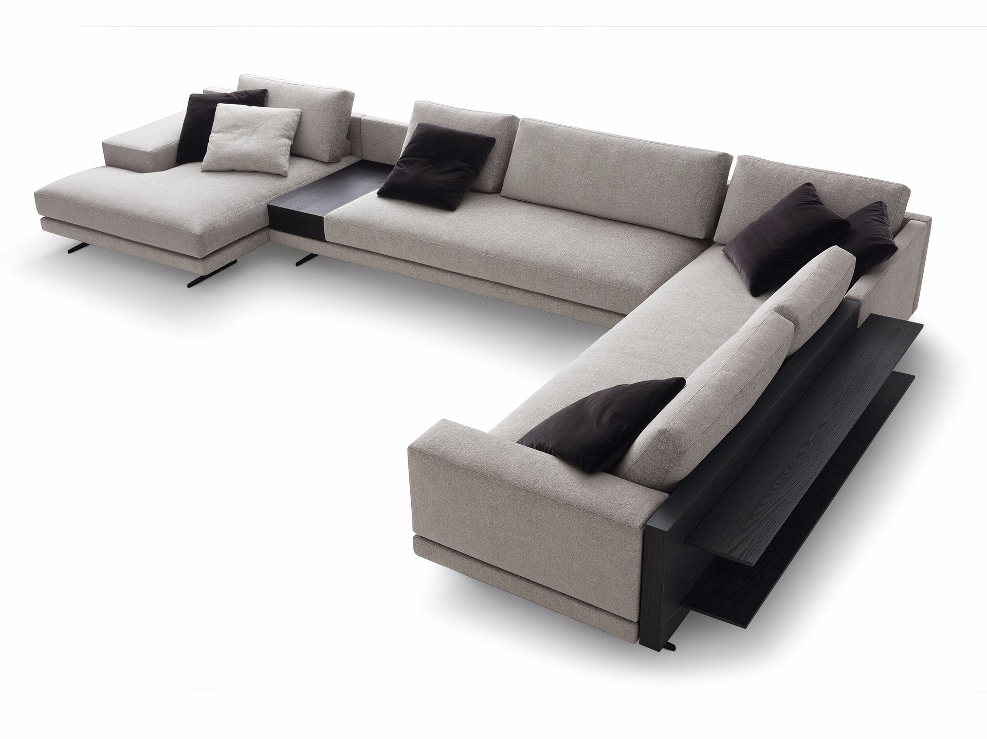 Mondrian corner sofa mondrian collection by poliform for Catalogos de sofas chaise longue