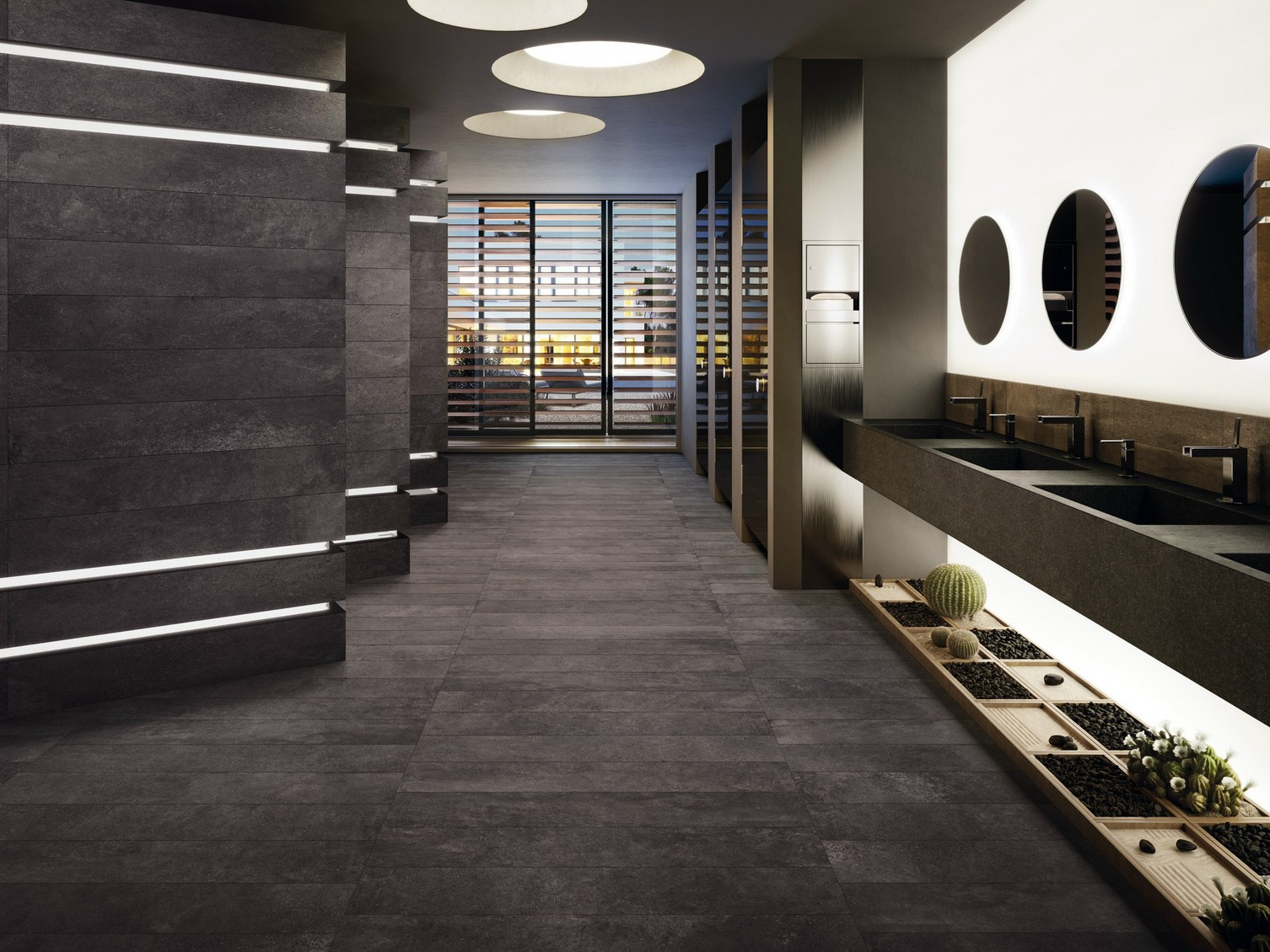 Indooroutdoor flooring moov anthracite moov collection by ceramiche keope
