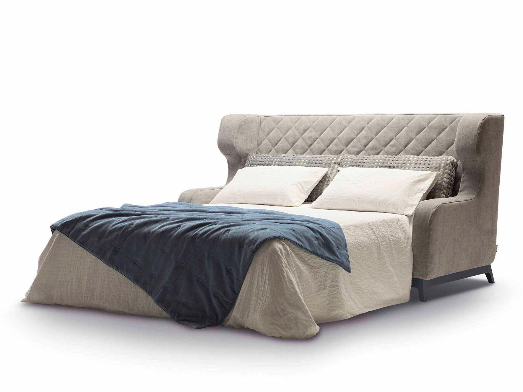 Divano letto imbottito in tessuto con schienale alto MORGAN by Milano Bedding...