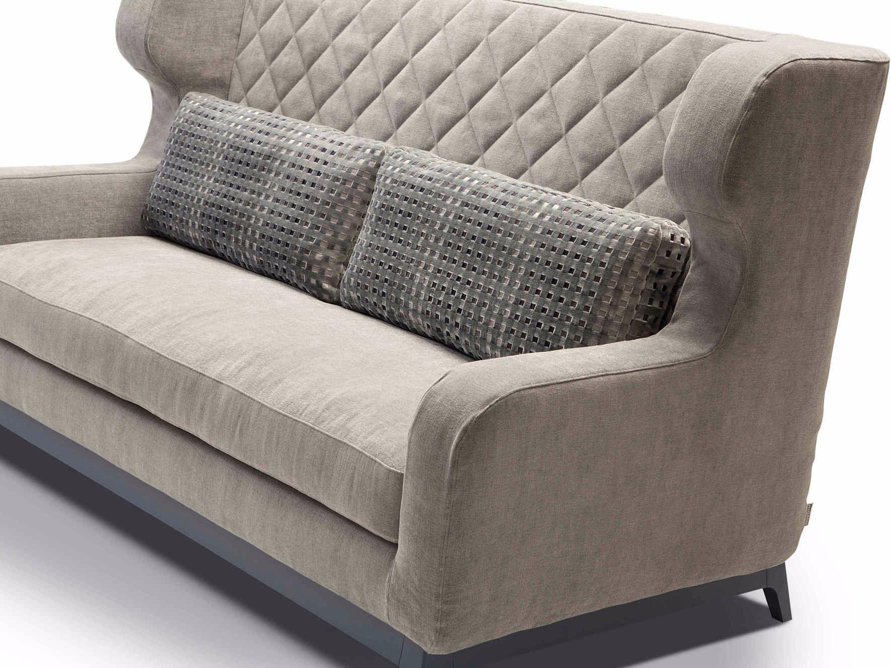 Divano letto imbottito in tessuto con schienale alto morgan by milano bedding design eric berth s - Schienale divano letto ...