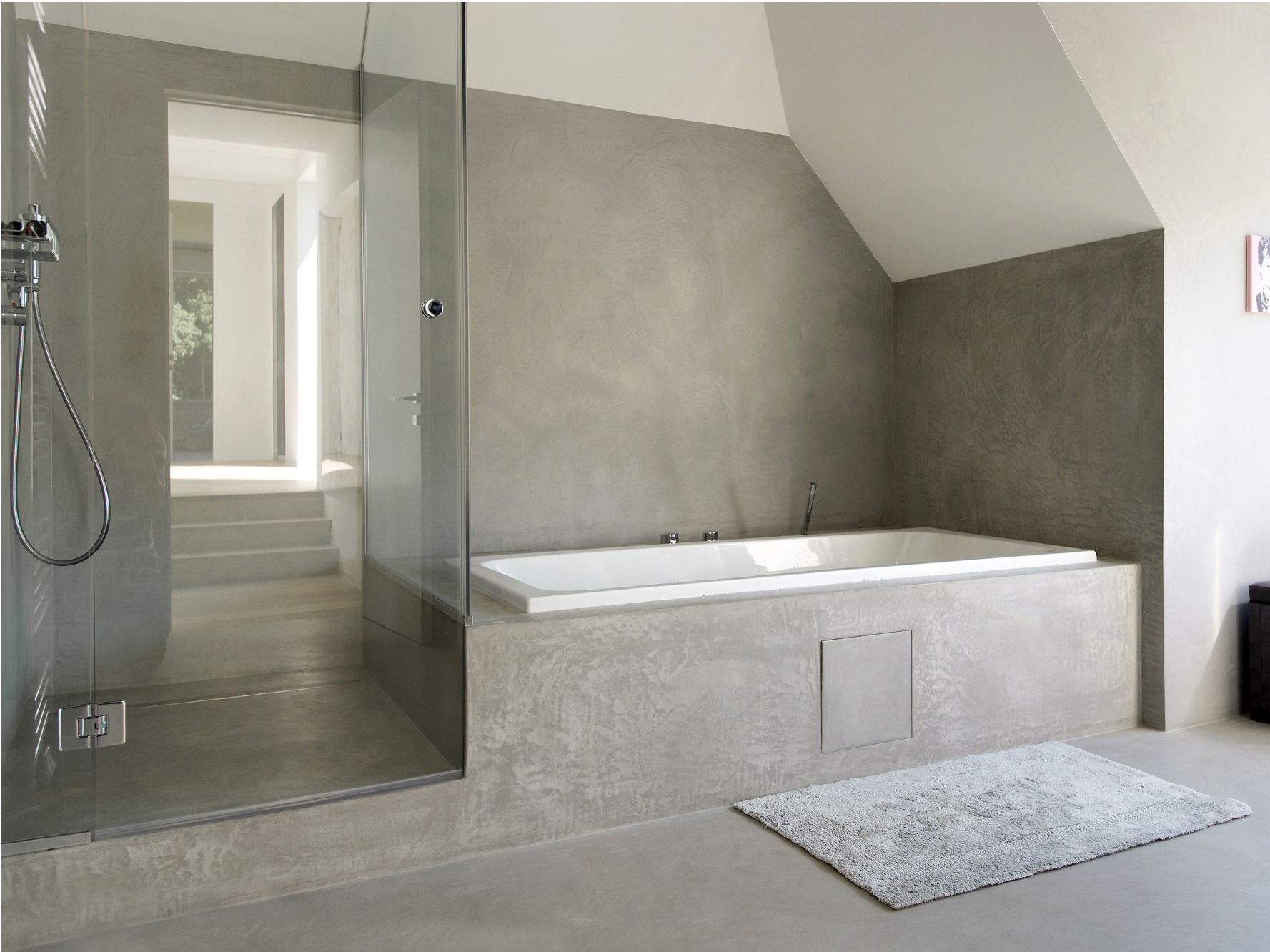 Mortex wall floor tiles mortex collection by beal for Tadelakt salle de bain