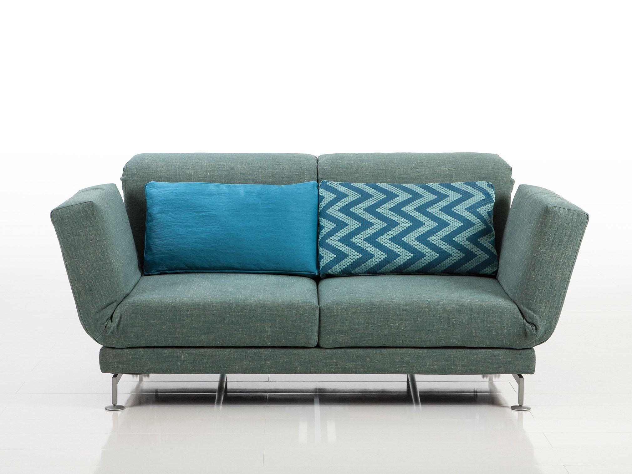 Moule divano in tessuto collezione moule by br hl design for Divano reclinabile 2 posti