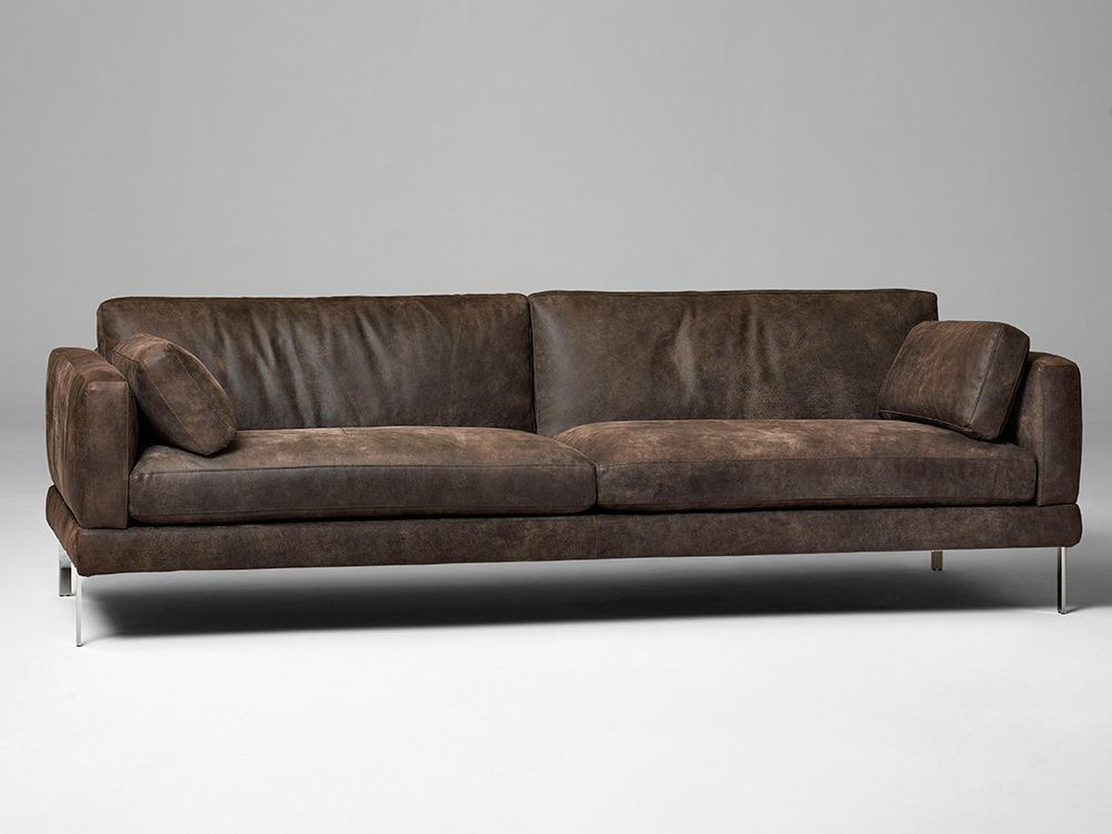 3 seater leather sofa mr jones by alivar design angeletti for 3 seater sofa