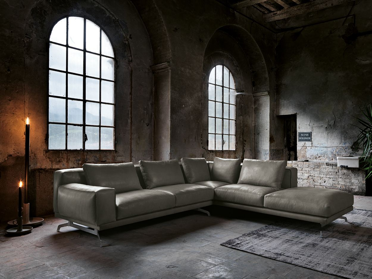 nando leather sofa nando collection by max divani