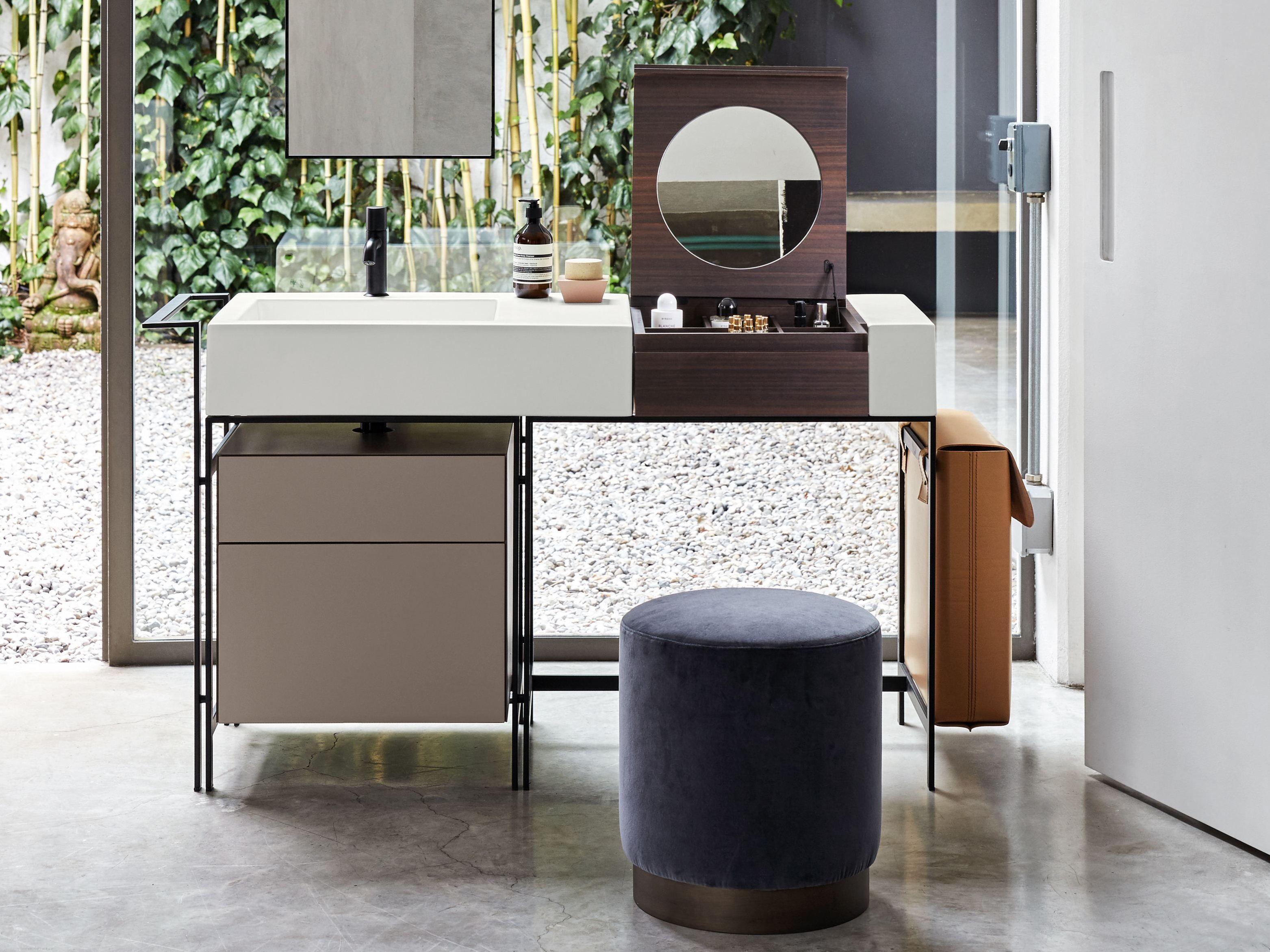 Meuble sous vasque sur pieds avec tiroirs narciso by - Meuble sous vasque design ...