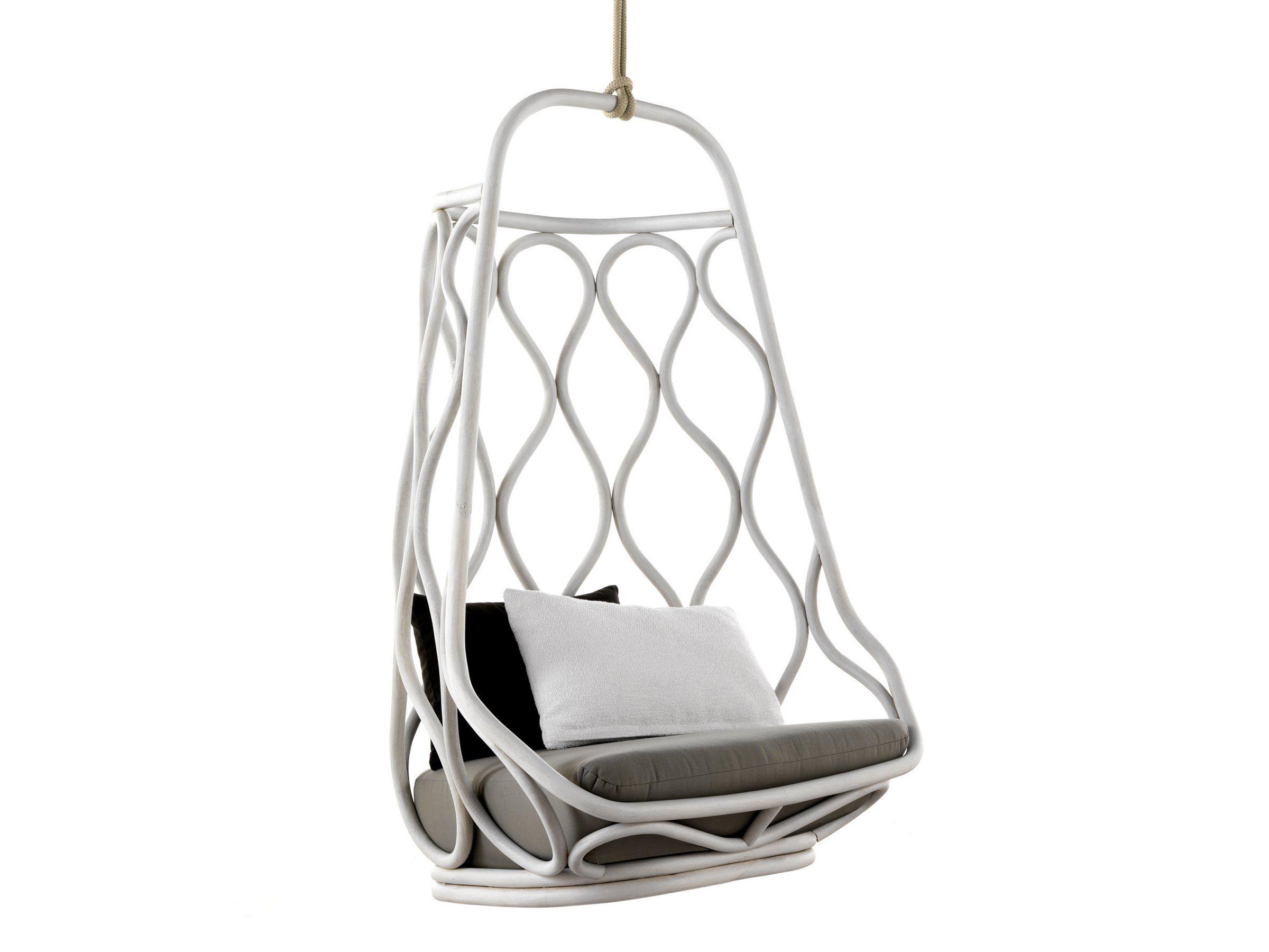 Hanging Rattan Chair White -