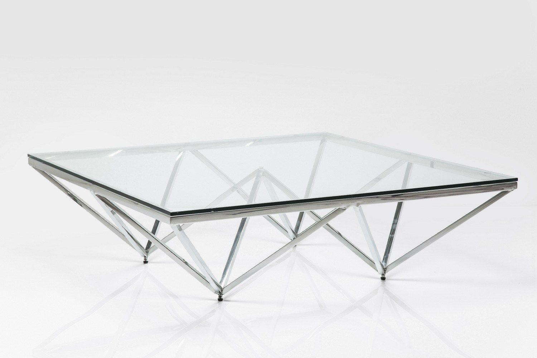 table basse rectangulaire en acier inoxydable et verre network by kare design. Black Bedroom Furniture Sets. Home Design Ideas