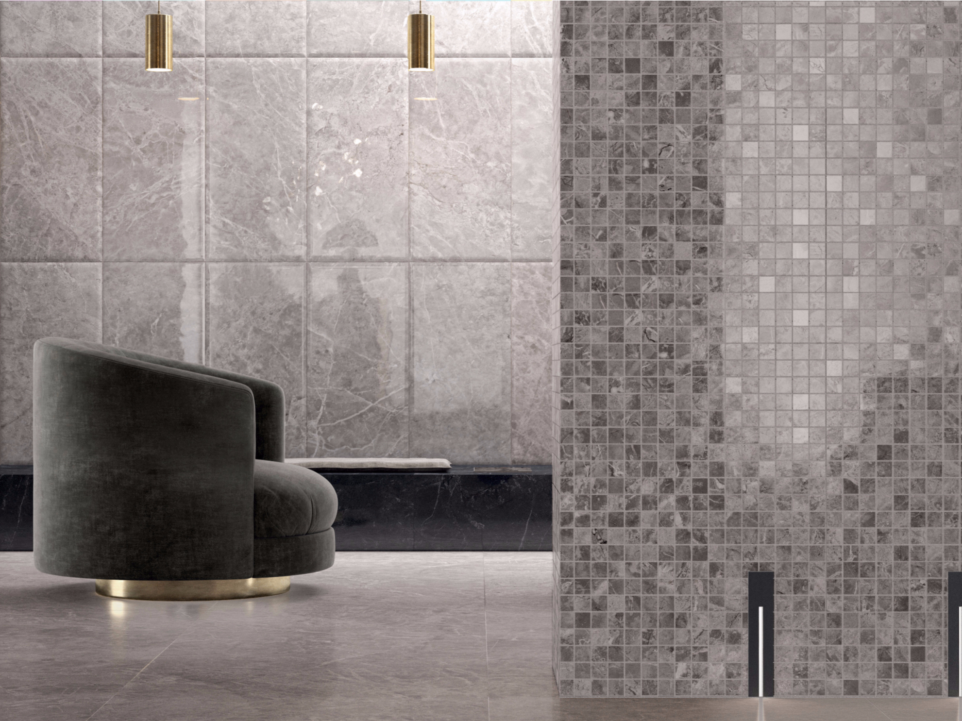 newluxe mosaic newluxe collection by ceramiche marca corona. Black Bedroom Furniture Sets. Home Design Ideas