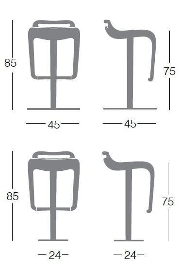 swivel stool noon g0934 by segis design archirivolto