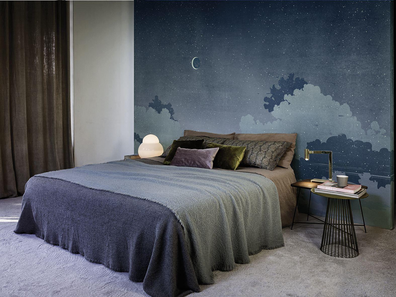 Carta da parati notturno blu collezione contemporary for Prezzo carta da parati wall and deco