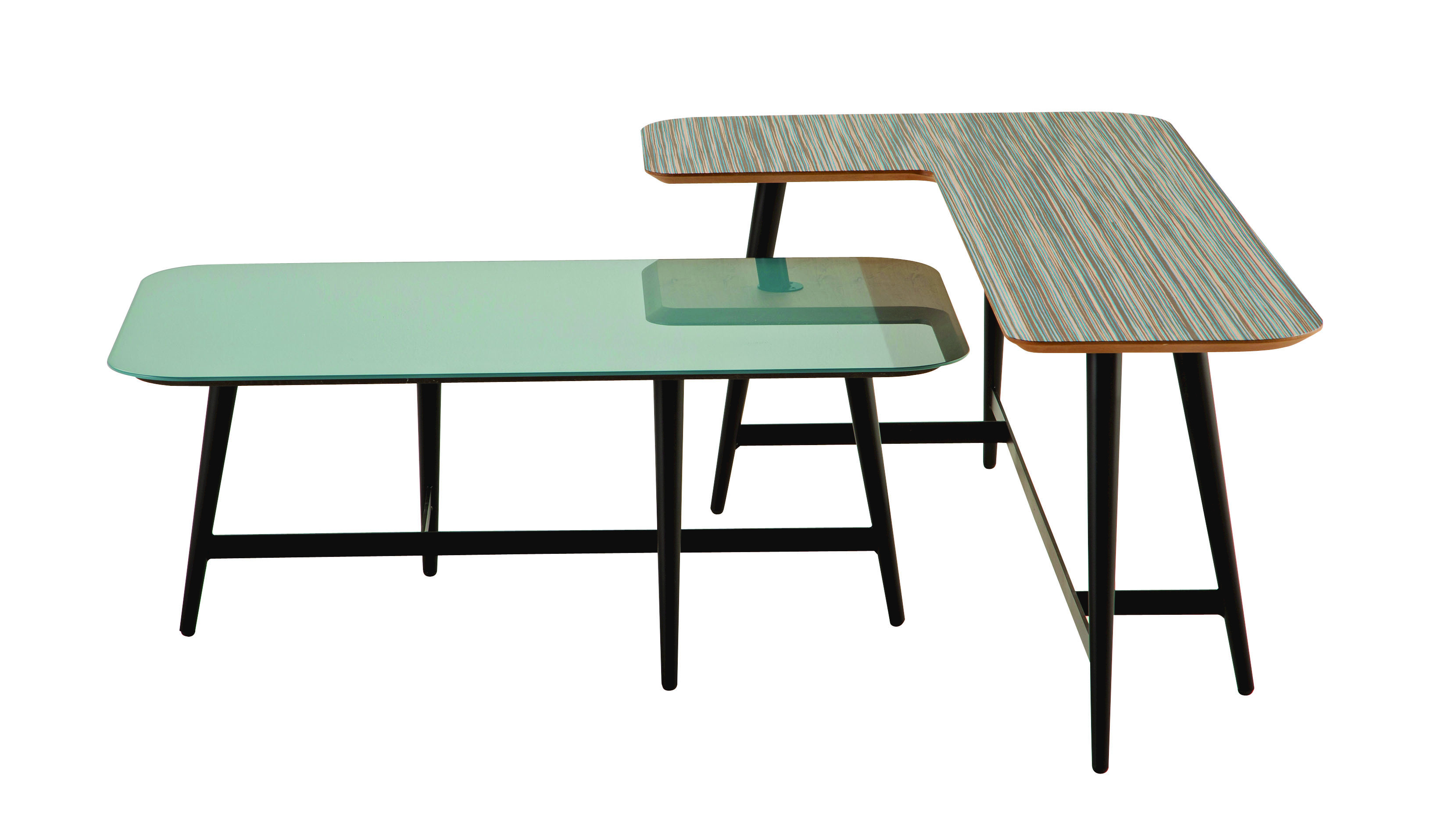 Lacquered modular rectangular coffee table octet les contemporains collection by roche bobois Roche bobois coffee table