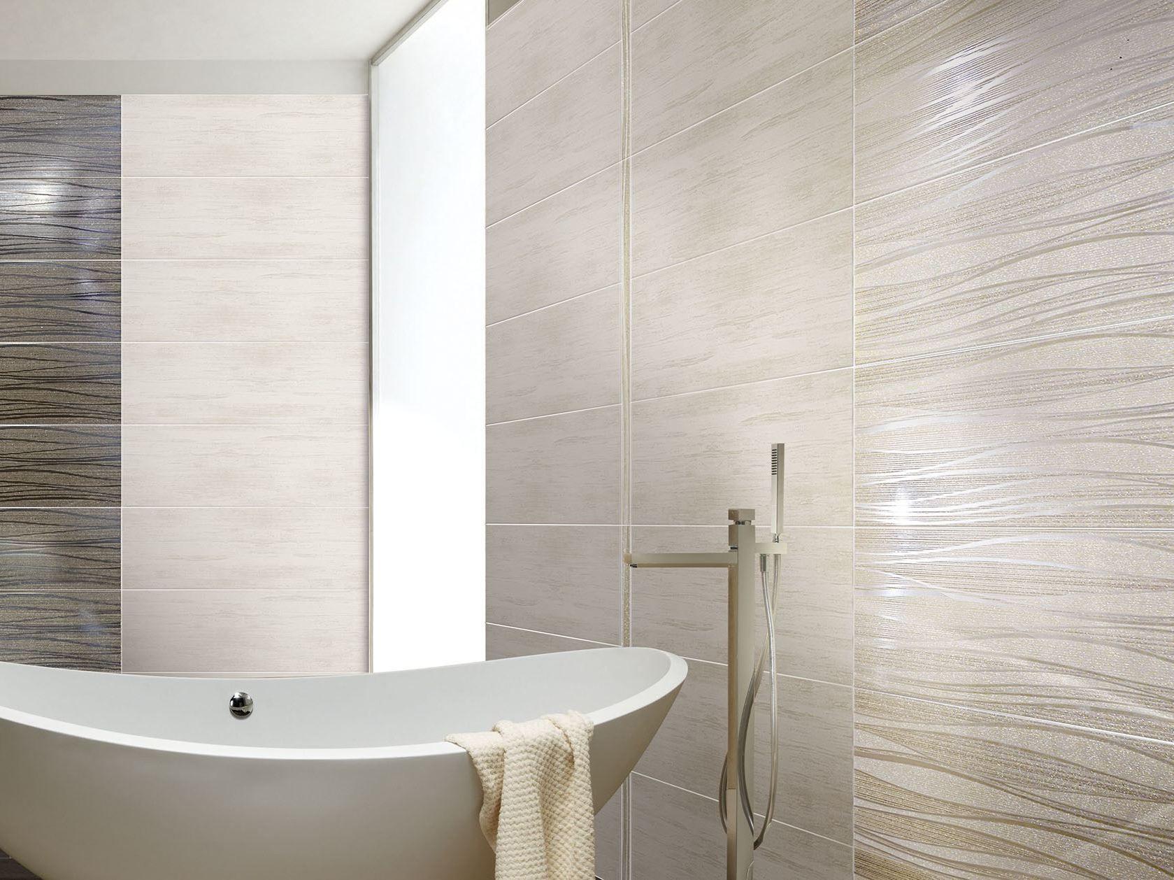 Indoor white paste wall tiles onde by ceramiche brennero for Ceramiche brennero