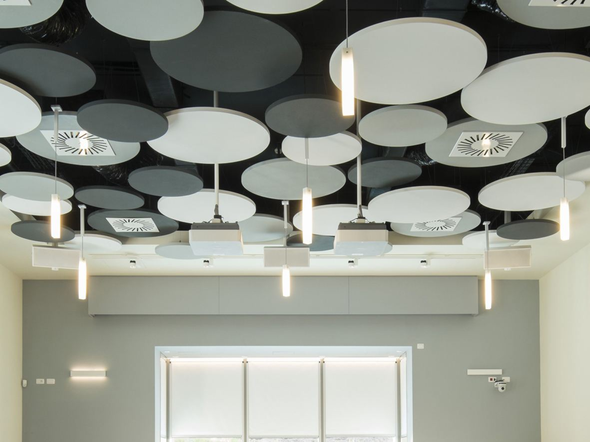 Mineral Acoustic Ceiling Clouds Optima L Canopy By Armstrong