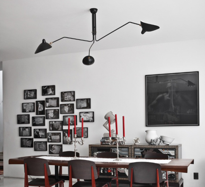 p3b lampada da soffitto by editions serge mouille design serge mouille. Black Bedroom Furniture Sets. Home Design Ideas