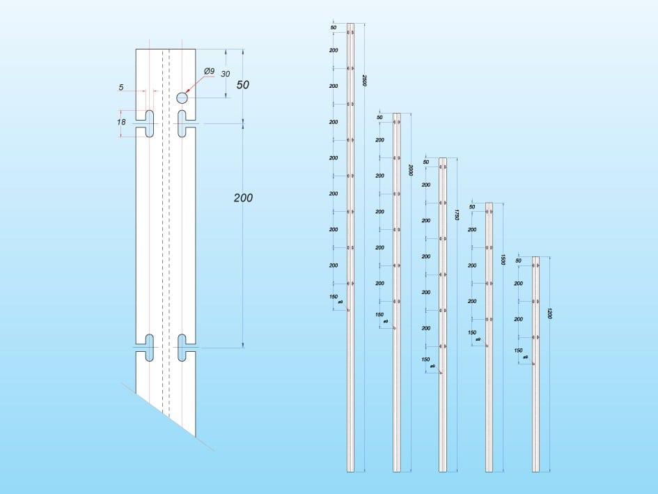 Palo in acciaio corten per vigneti alpi by siderurgica for Acciaio corten prezzo al kg