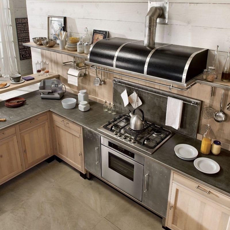Cucina componibile in legno massello con penisola panamera - Cucine marchi prezzi ...