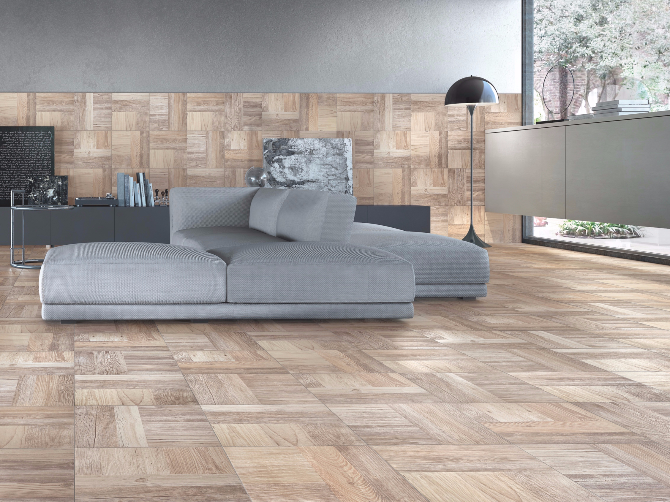Pavimento in gres porcellanato effetto legno parchi - Piastrelle casalgrande padana ...