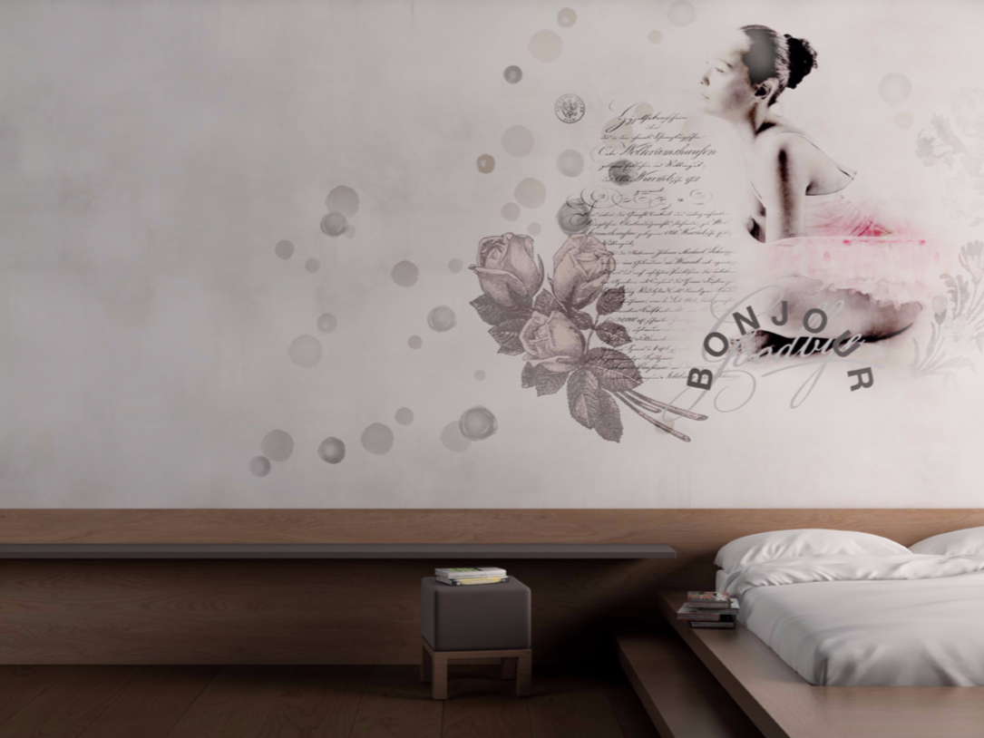 Motif Washable Writing Vinyl Wallpaper Parole Donna