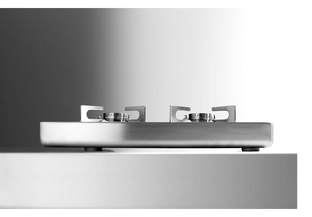 Piani cottura da appoggio piano cottura in acciaio inox by alpes inox design alpes inox - Piani cottura design ...