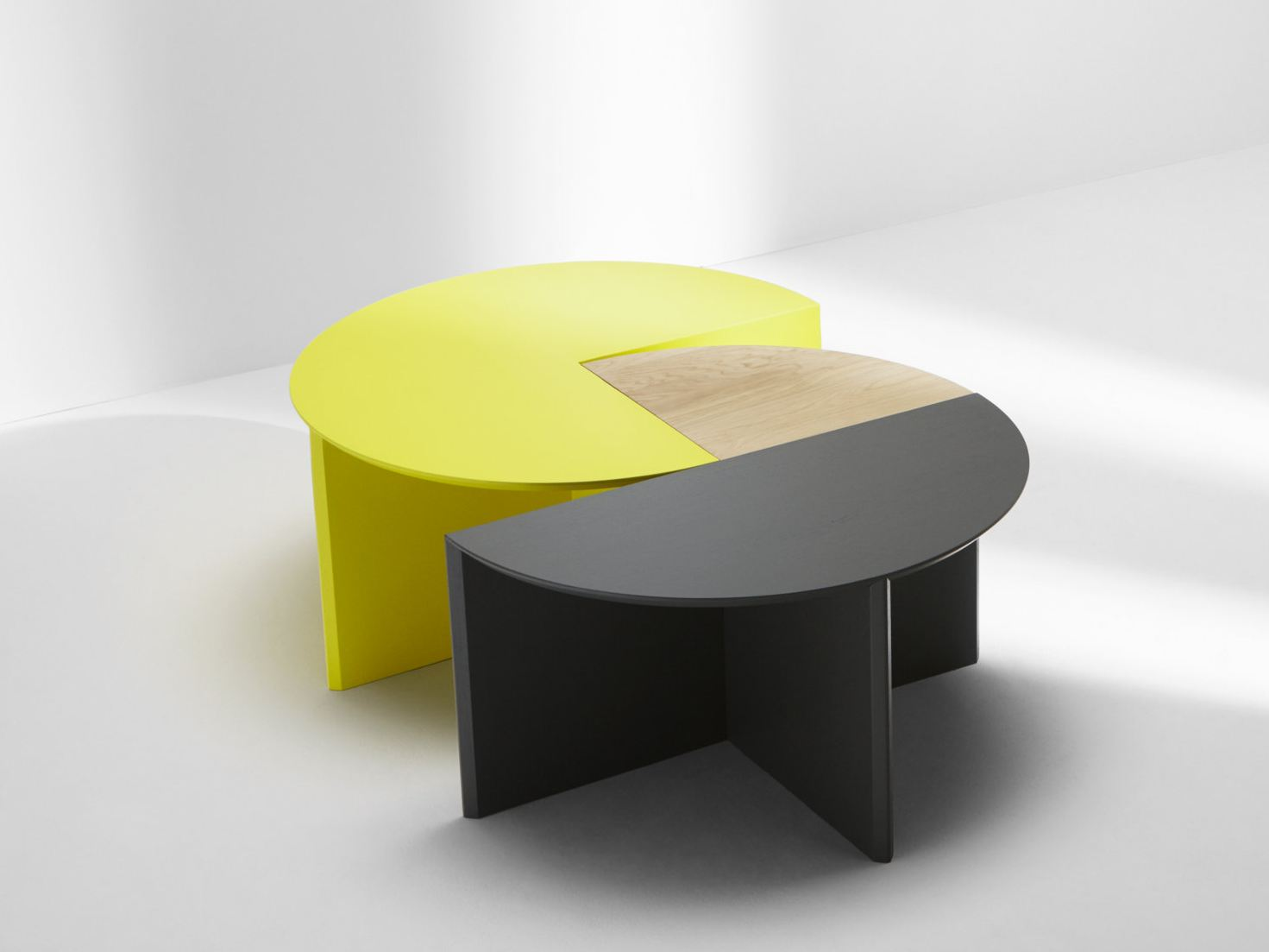 Modular Coffee Table Pie Chart System By H Furniture Design Hierve