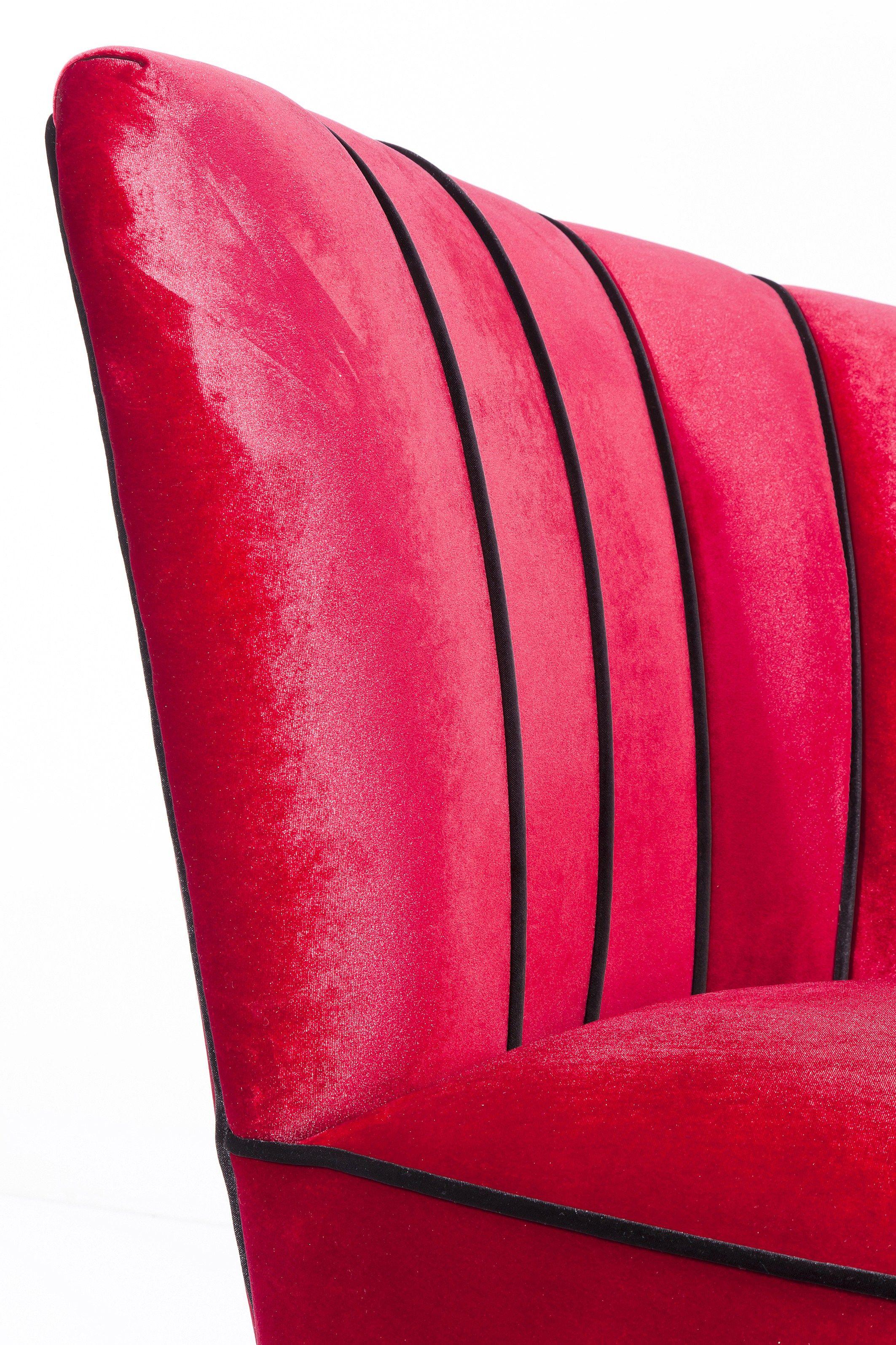 Poltrona imbottita in tessuto stile anni 50 pipe kare for Poltrona kare design