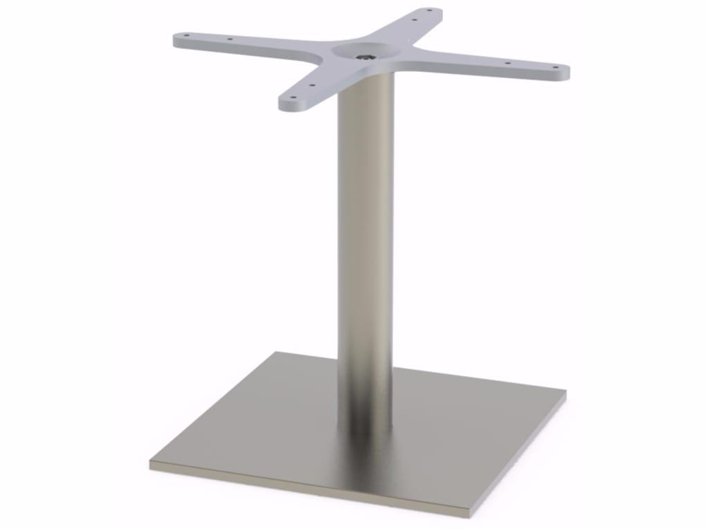 Base per tavoli in acciaio inox PLANA LOUNGE by Adico design Miguel Rodrigues