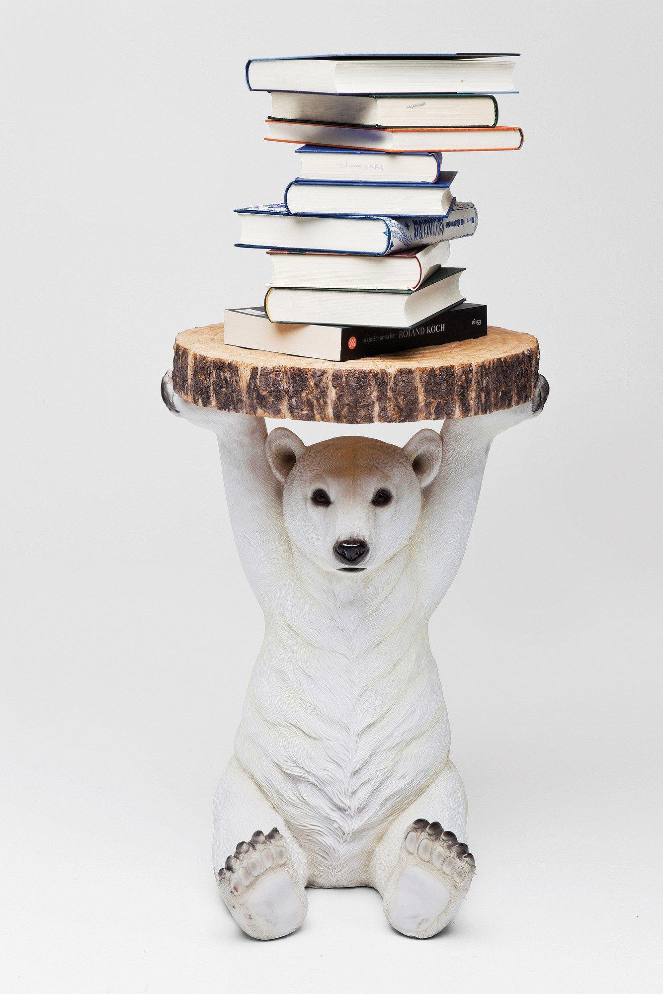 Coffee table for living room polar bear by kare design for Kare design tisch polar